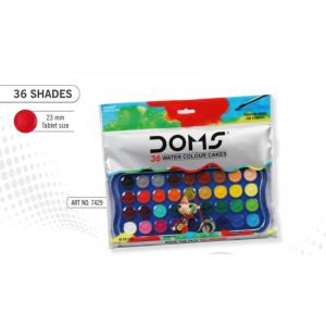 Doms 36 Shades Watercolour Cakes 23mm
