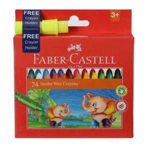 Faber Castell Jumbo Wax Crayons (24 Shades)