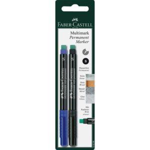Faber Castell Permanent Blue Marker Pen (Set of 10)