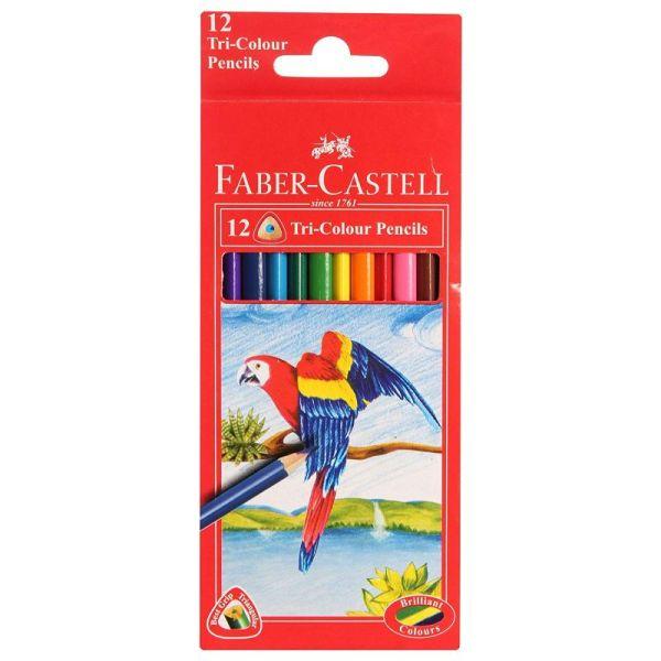 Faber Castell Triangular Pencil (12 Shade)