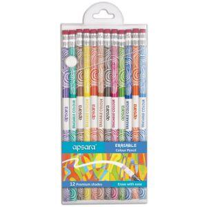 Apsara 12 Erasible Color Pencils
