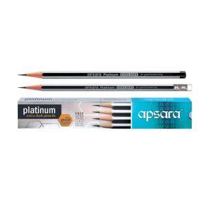 Apsara Platinum Rubber End Wooden Pencil