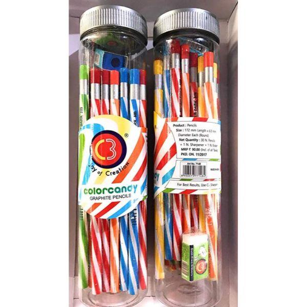 Doms C3 Candy Pencils 30 Pcs Jar
