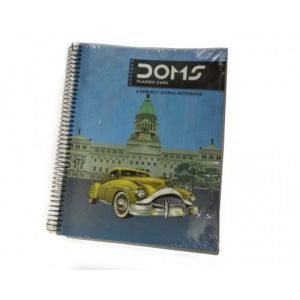 Doms Spiral Note Book Black B5 1 Subject