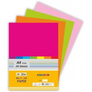 Lotus A4 Pastel Sheet White Both Side Ruled