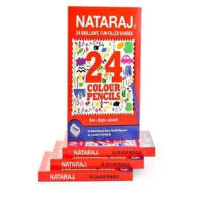 Nataraj 24 Full Size TIN Colour Pencils