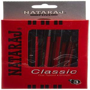 Nataraj Classic Black Ball Pens Box