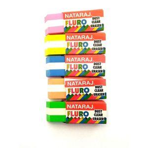 Nataraj Fluro Dust Clear Eraser