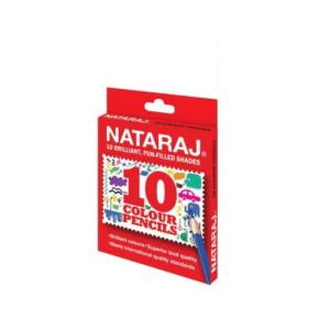 Nataraj 10 Half Size Colour Pencils
