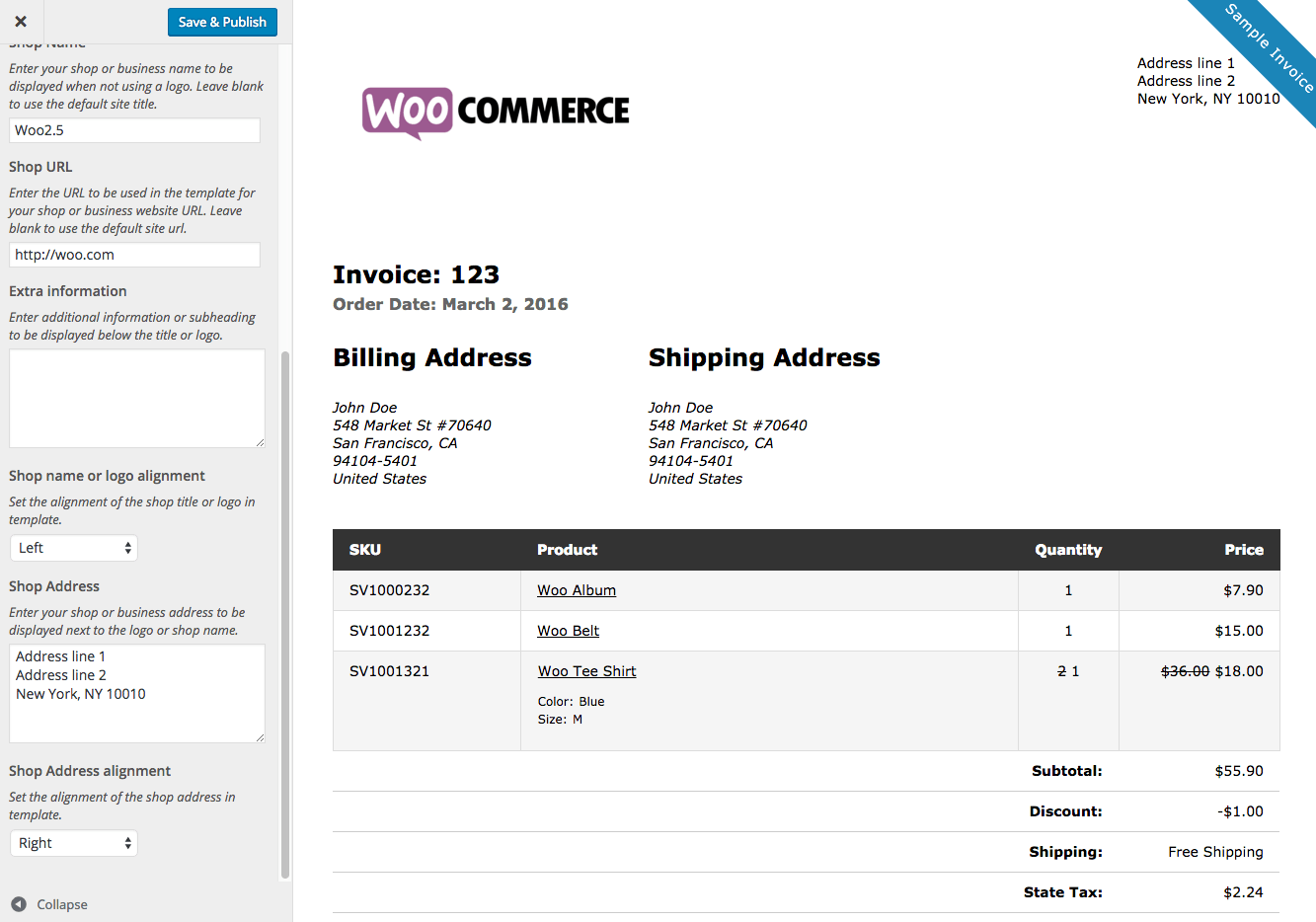 Print Invoices And Packing Lists Plugin For Wordpress And