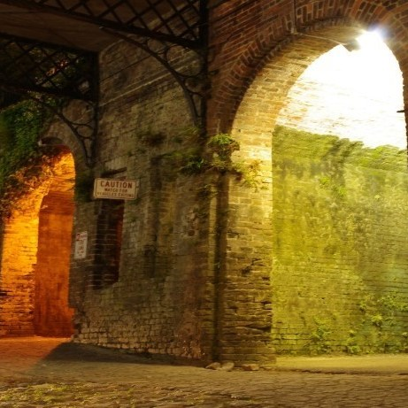 Image of the vaults at Factors Row, Savannah, GA