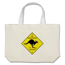 no_kangaroos_in_austria_large_tote_bag