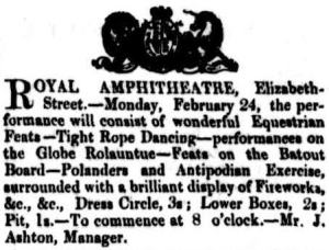 Royal Amph - Launceston [CC 22 Feb 1851, 118]