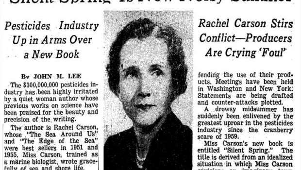 Rachel Carson, Environmental Heroine and DDT, And Year 2020