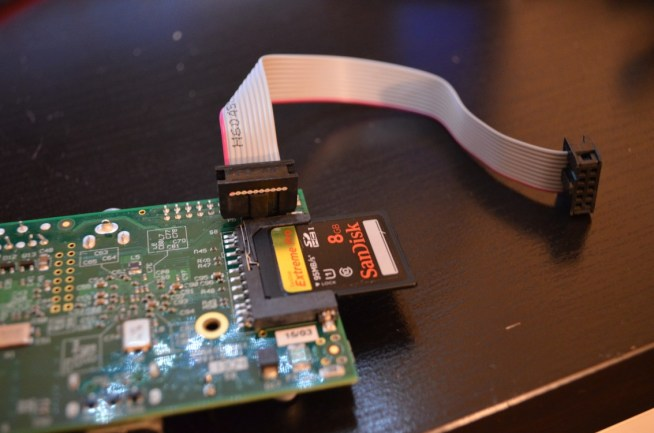 Raspberry Pi P5 header with pins