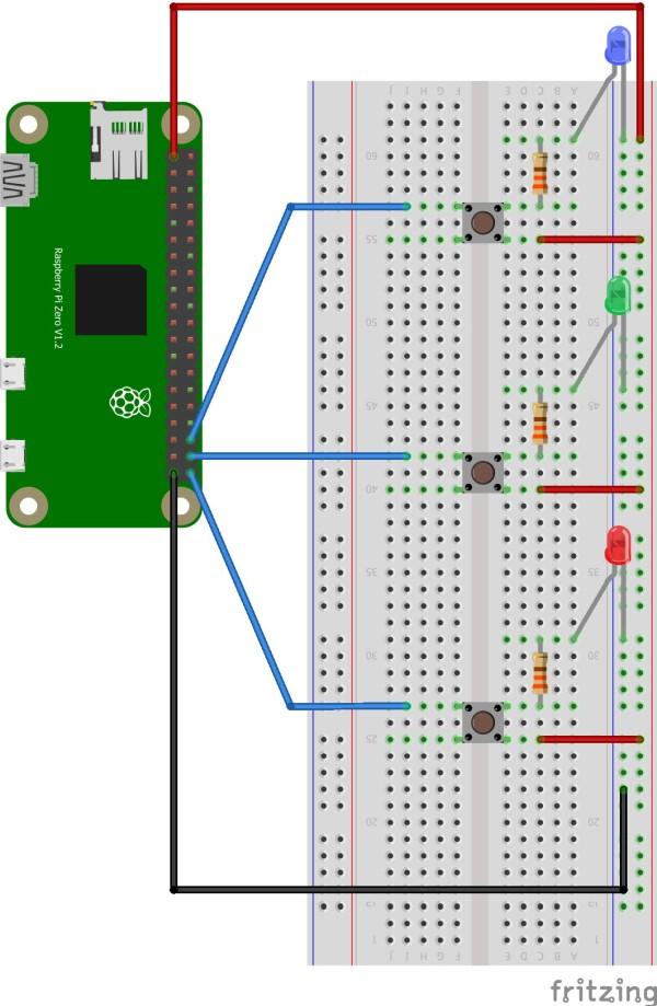 Raspberry Pi LED button
