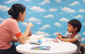 A 英語で積極的に発話する力を育てる