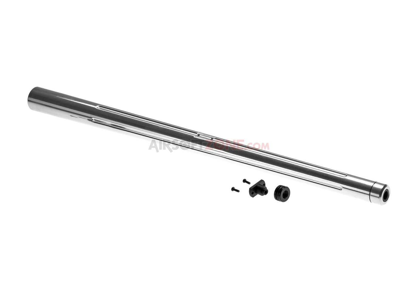 Custom Outer Barrel For Aac21 Kjw M700 Silver Action Army