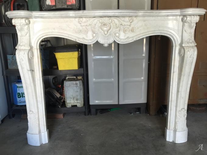 cheminee de style louis xv en marbre