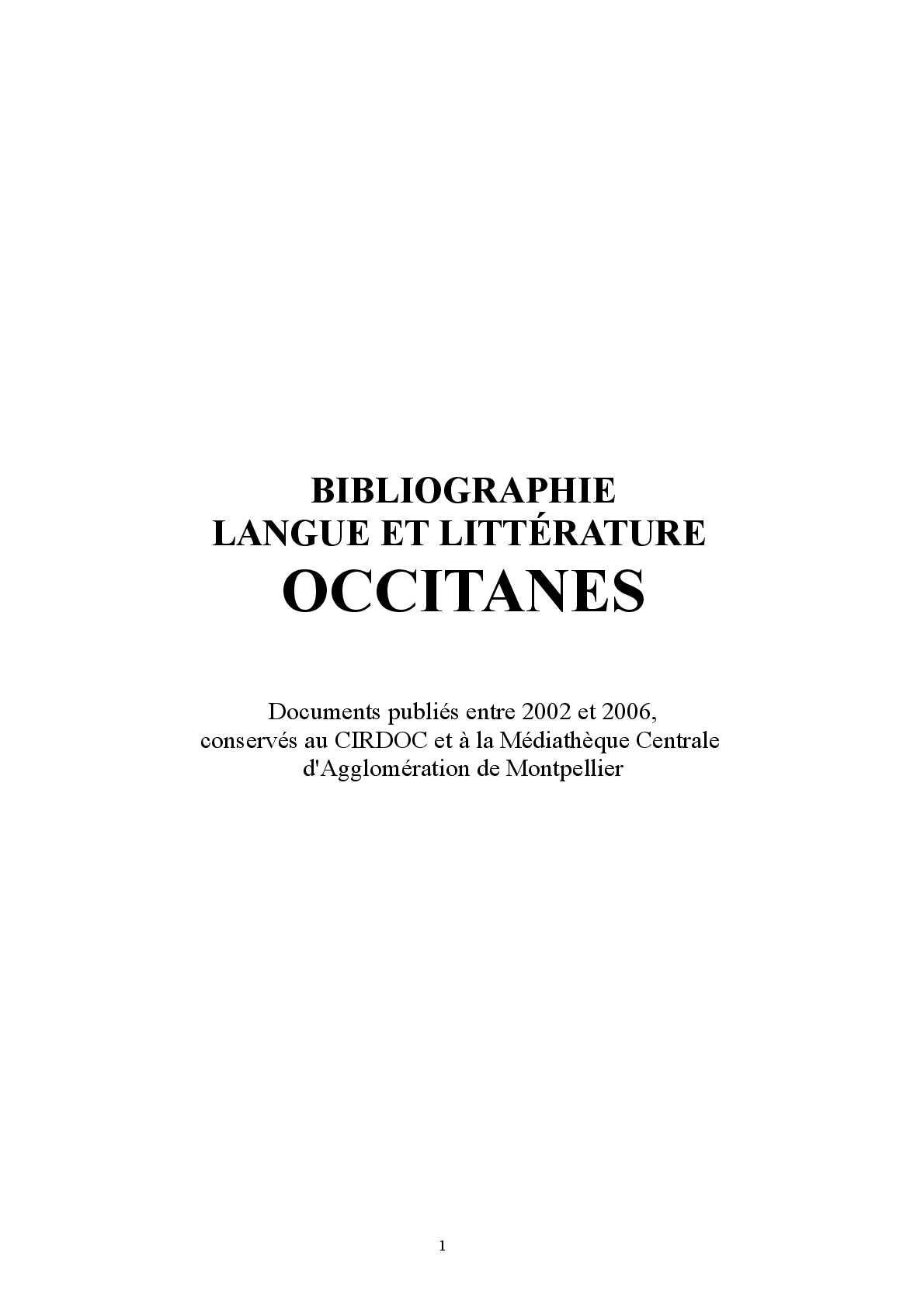 Calameo Bibliographie Occitane 2002 2006