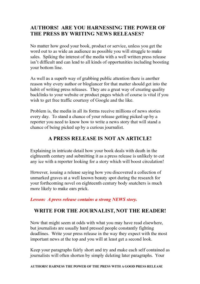 Calaméo - AUTHORS! ARE YOU HARNESSING THE POWER OF THE PRESS BY