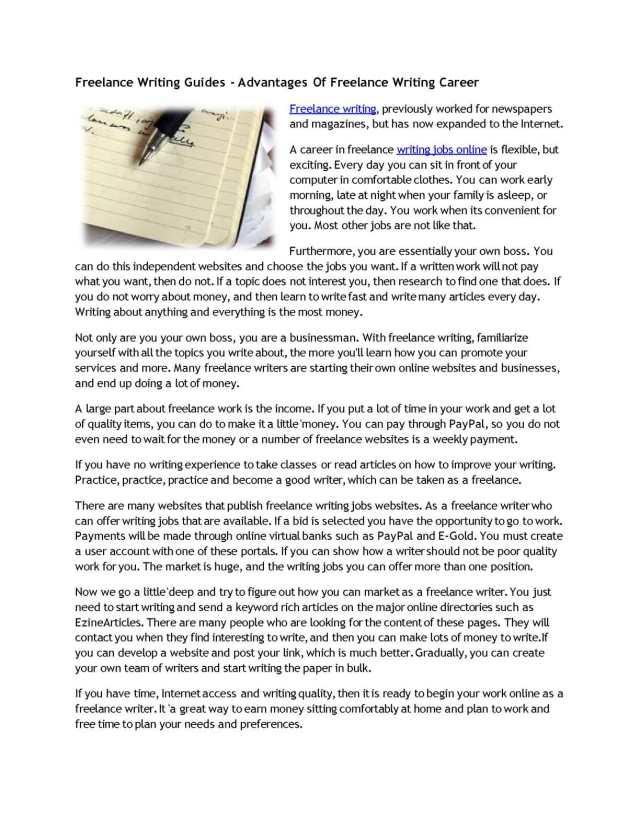 Calaméo - Freelance Writing Guides - Advantages Of Freelance