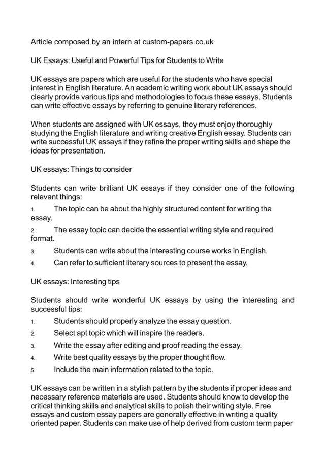 Calaméo - UK Essays: Useful and Powerful Tips for Students to Write