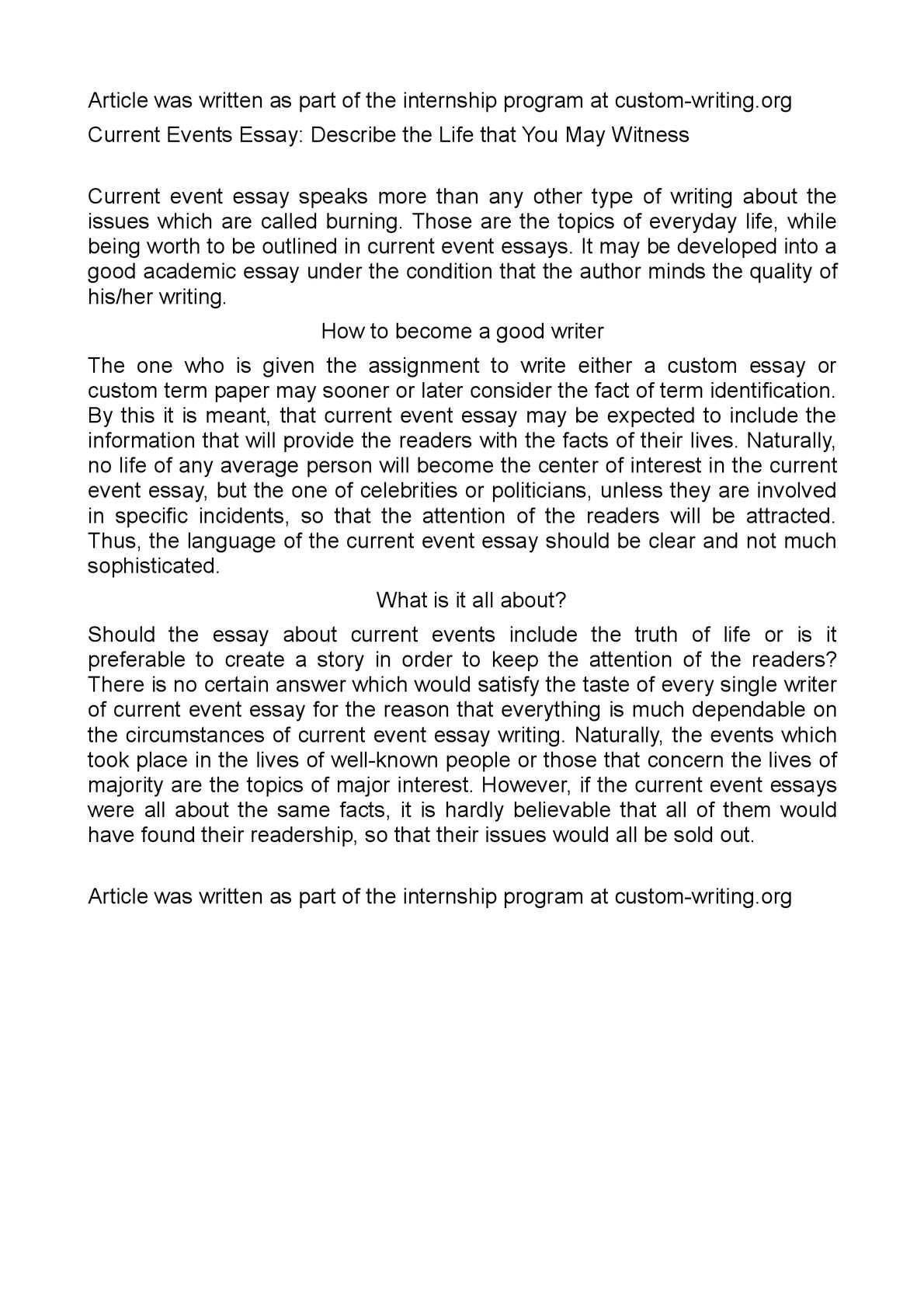 Describing An Event Essay How To Write A Descriptive