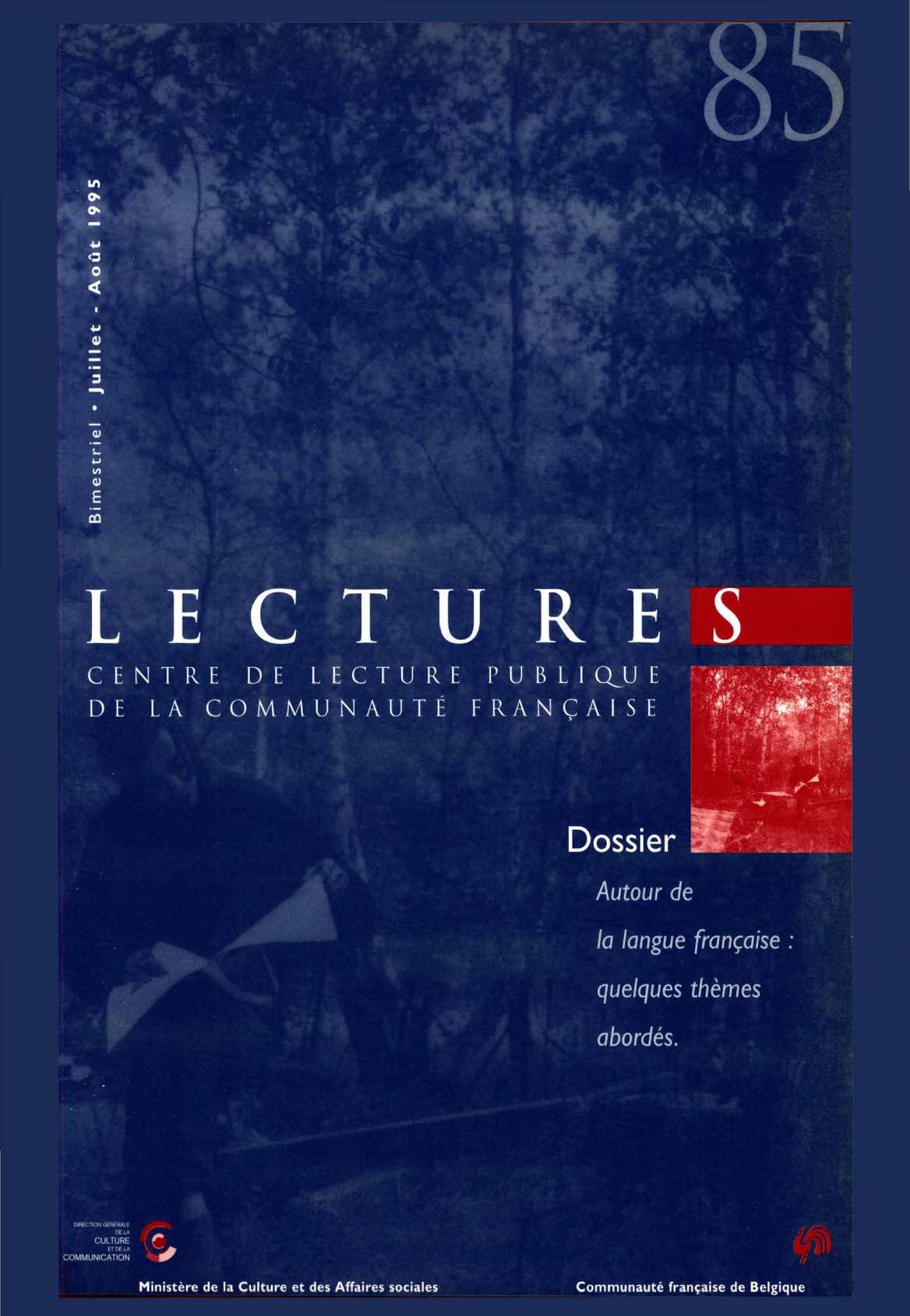 Calamo Lectures 85 Juillet Aot 1995
