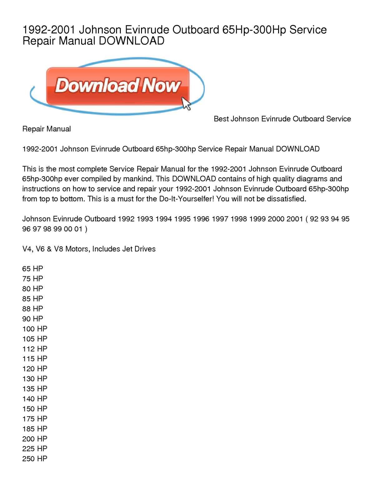 johnson evinrude outboard service manual Array - johnson outboard motor repair  manuals newmotorku co rh newmotorku co