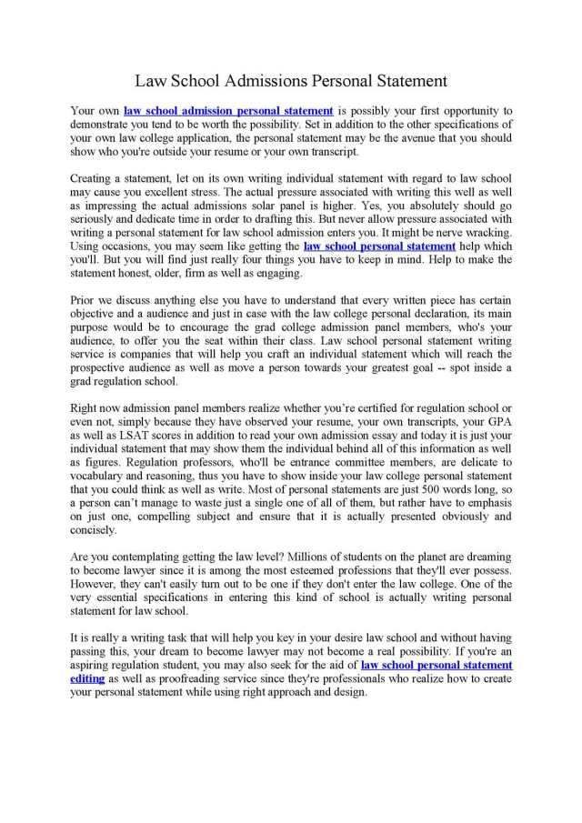 Law school personal statement writing service! Law School Personal