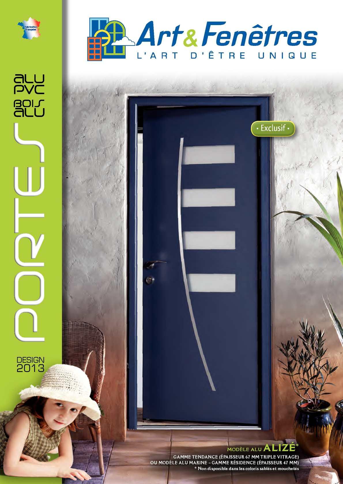 Calam 233 O Art Et Fenetre Catalogue Portes 2013