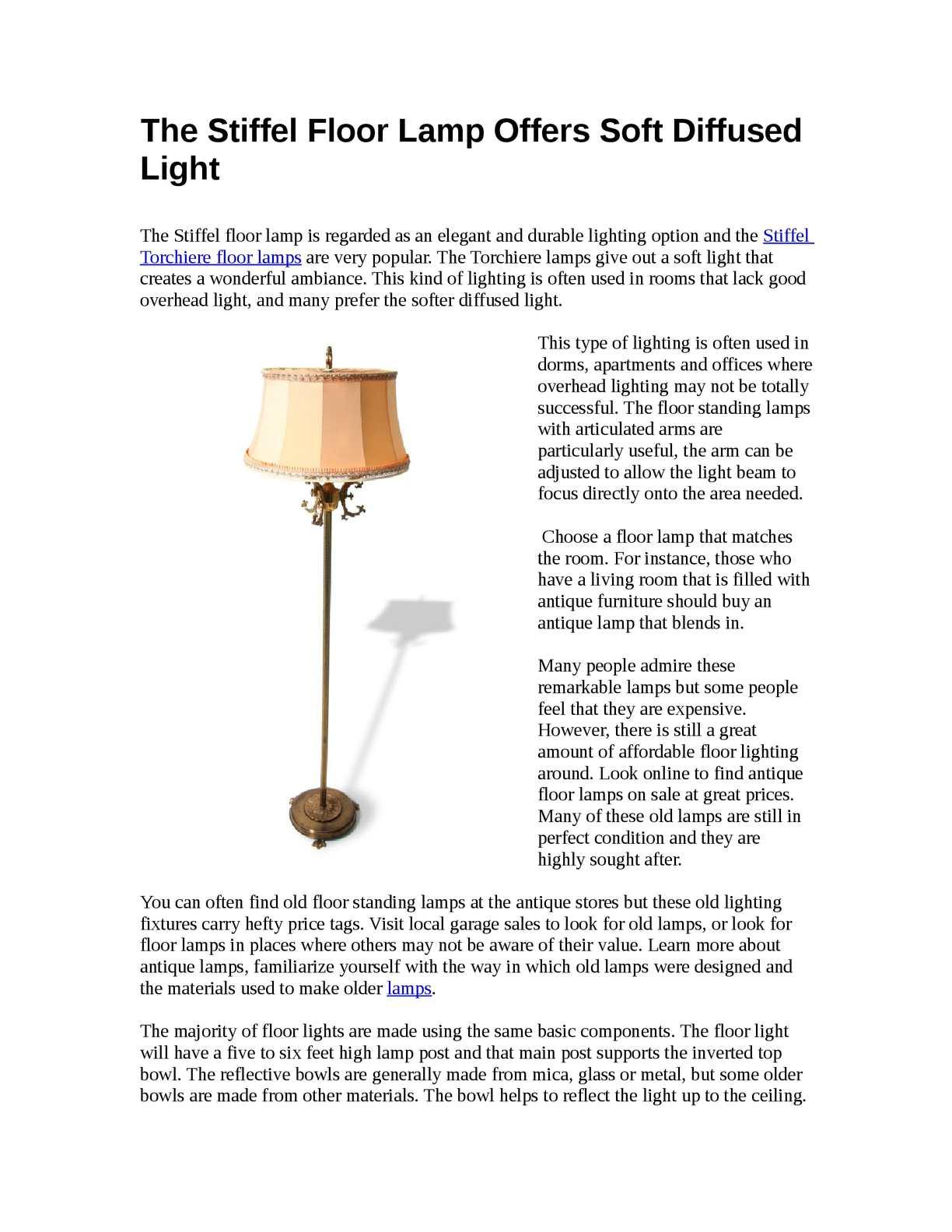 calameo the stiffel floor lamp offers
