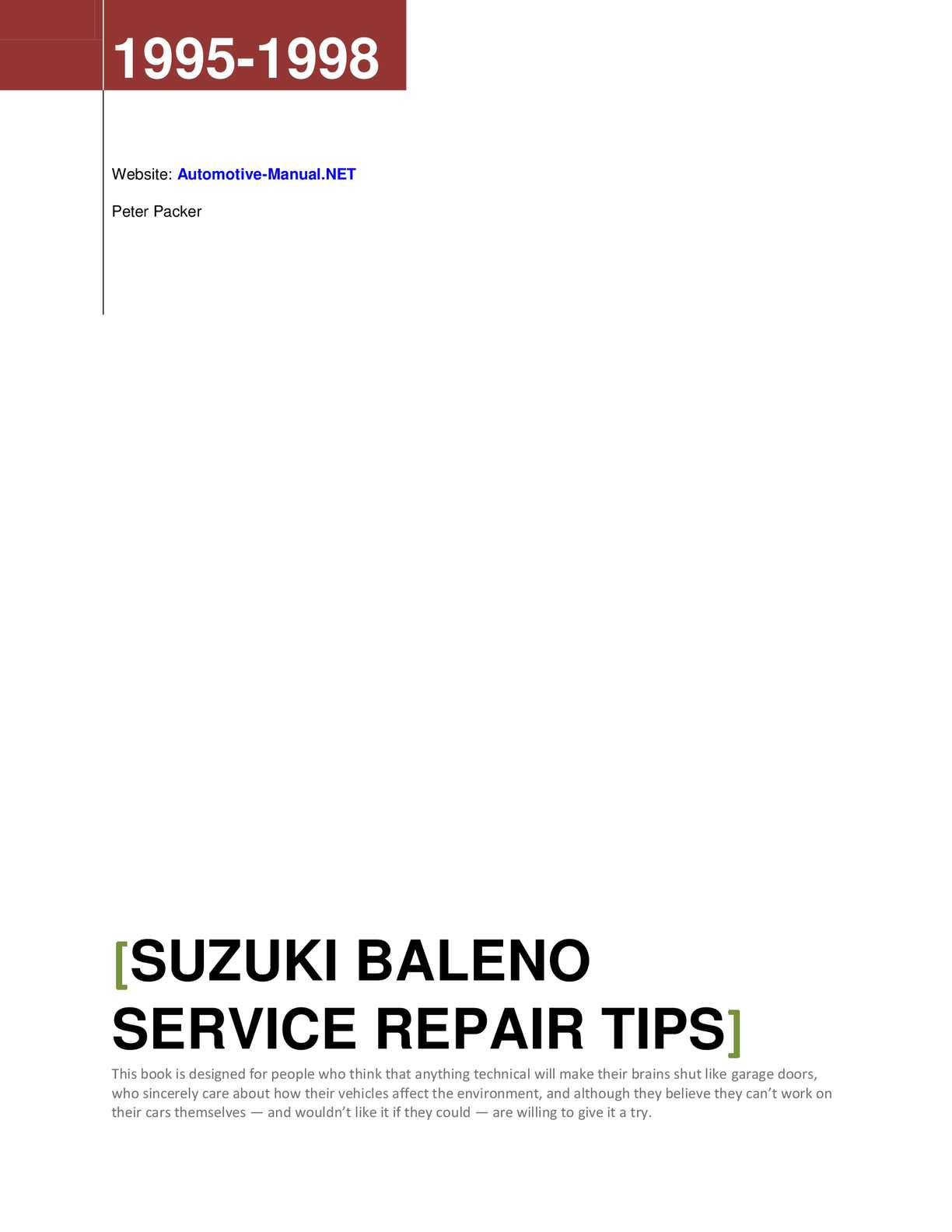 Bestseller Suzuki Baleno Manual Wiring