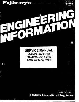 Calaméo  Ec25 Robin Engine Service Manual
