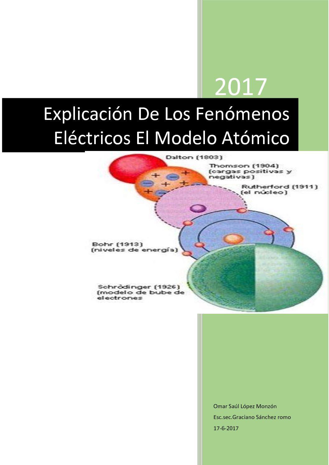Calaméo Explicación De Los Fenómenos Eléctricos El Modelo