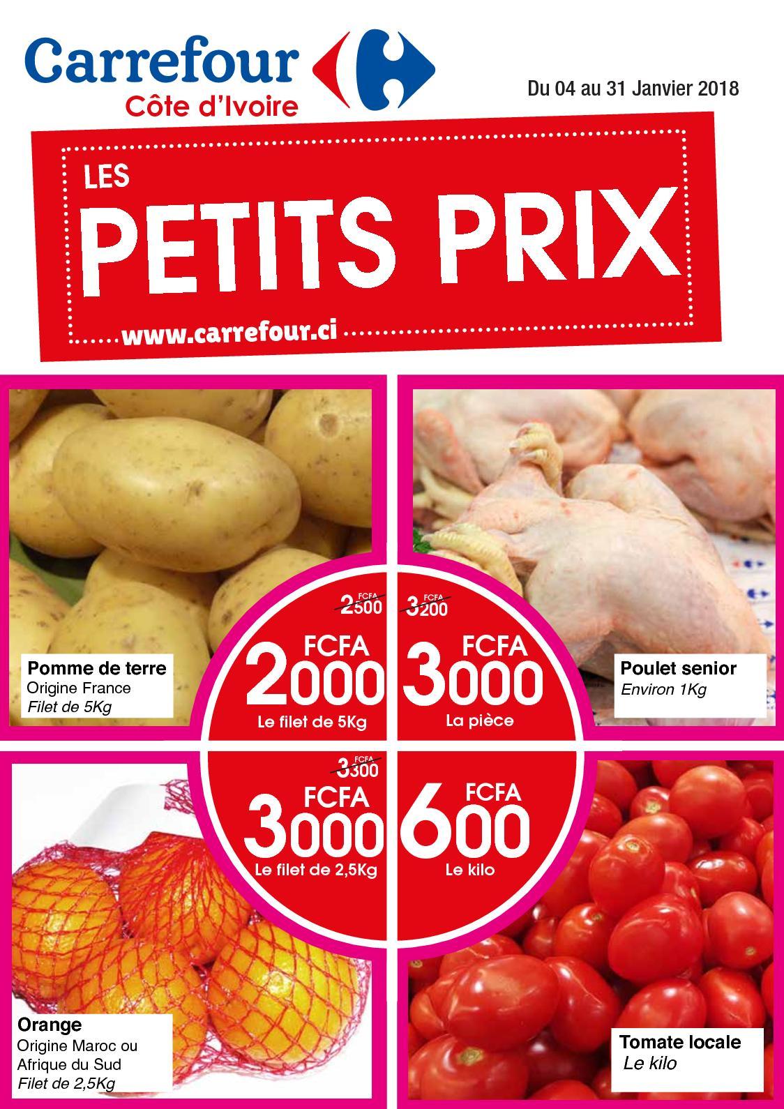 Calameo Carrefour Ci Web Catalogue Prix Bas