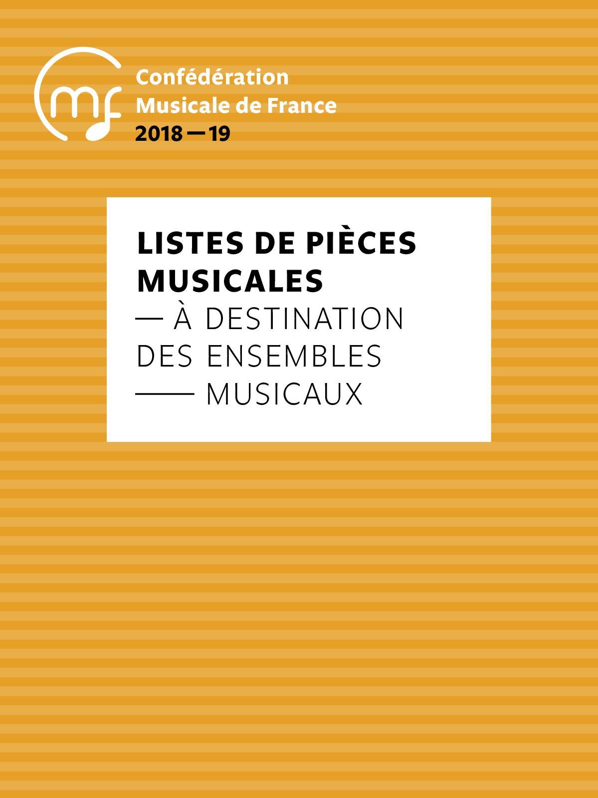 Calameo Listes 2019 De Pieces Musicales A Destination Des Ensembles Musicaux