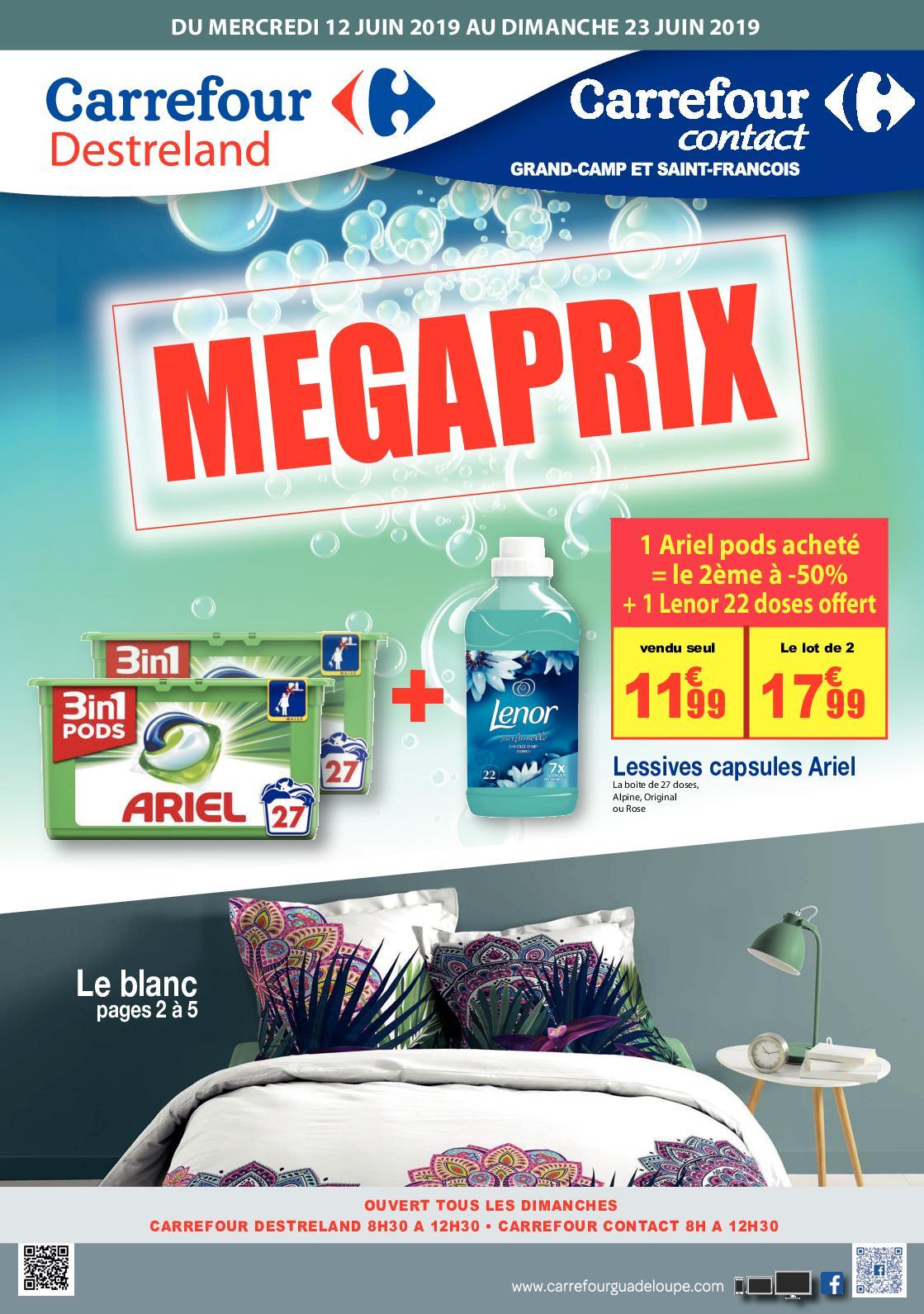 Calameo 20190612 Carrefour Destreland Megaprix Catalogue