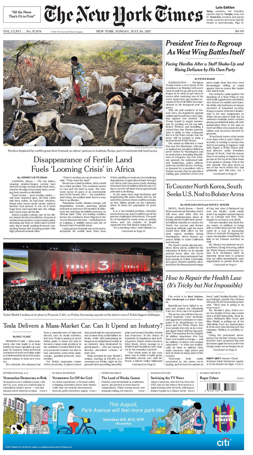 Calameo The New York Times 2017 07 30