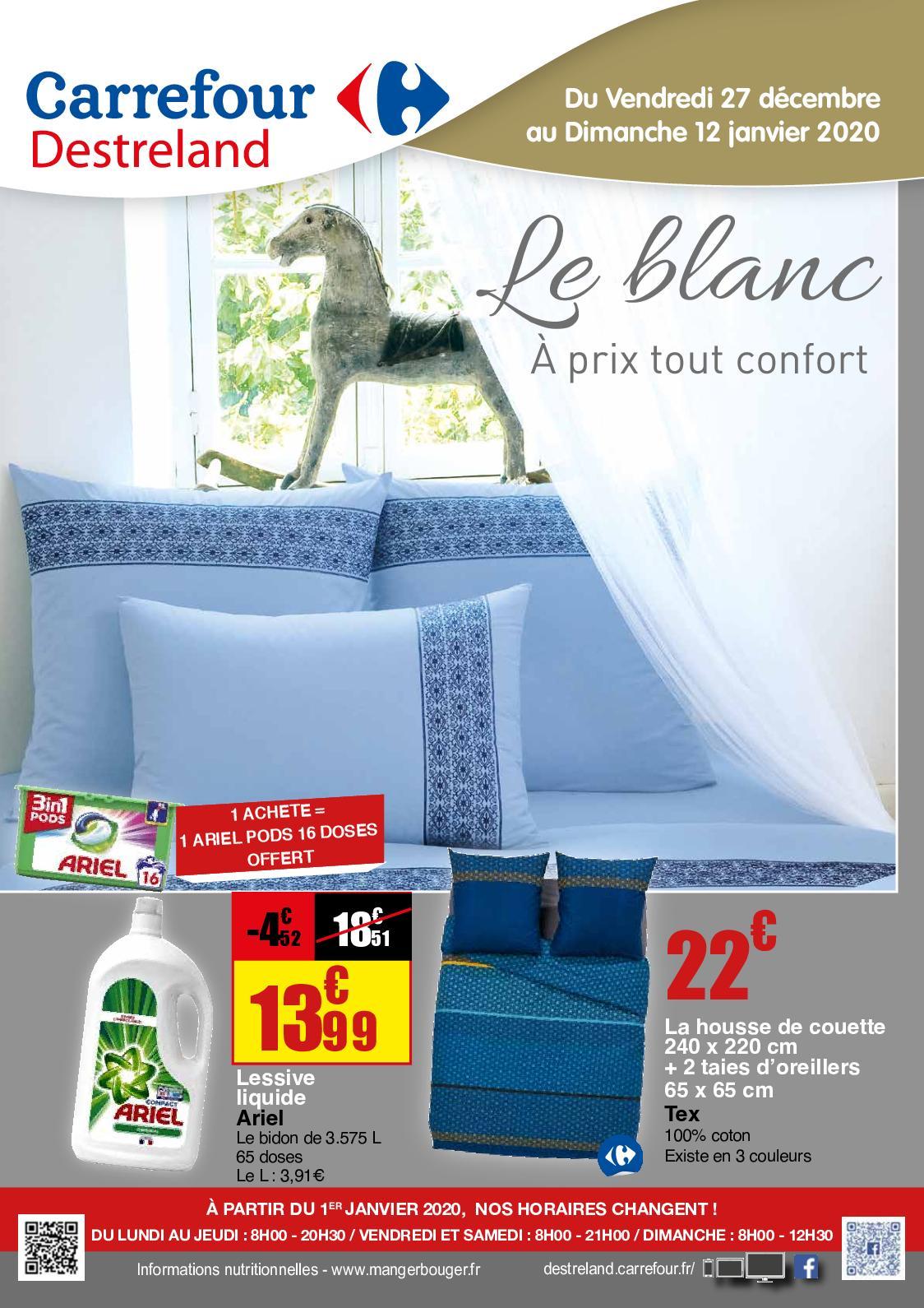 Calameo Catalogue Le Blanc Carrefour Destreland