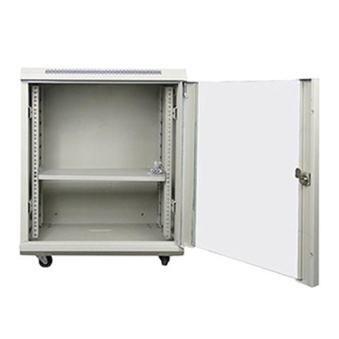 floor standing glass door server rack