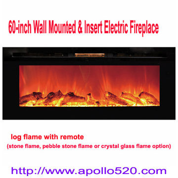 60 inch wall mounted insert electric