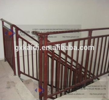 Long Term Rust Proof Interior Stairs Railing Designs 1 Galvanized   Stairs Railing Designs In Steel   Caramel   Glass   Iron Spindle Railing   Square   Solid Wood