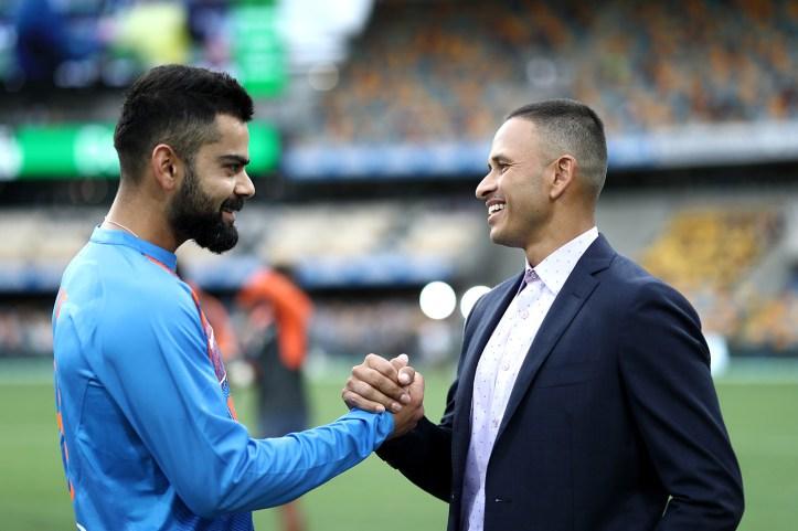 Virat Kohli and Usman Khawaja have a laugh