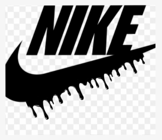 Download #nike Drip - Nike Logo With Drip, HD Png Download - kindpng