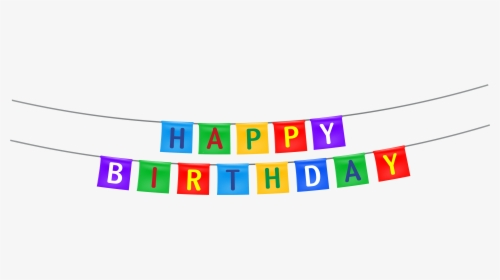 Party Streamer Png Banner Happy Birthday Png Transparent Png Kindpng