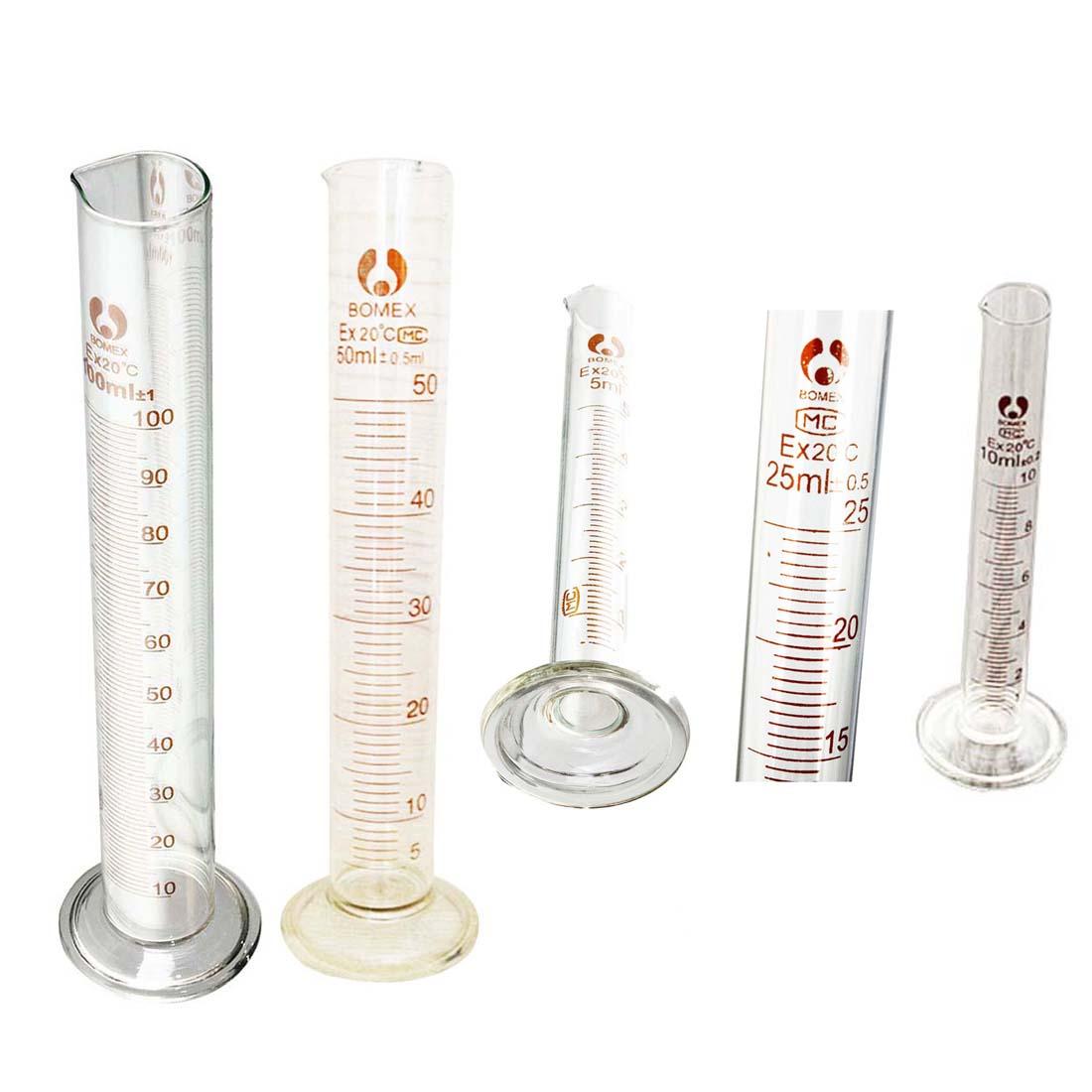 Graduated Glass Measuring Cylinder Chemistry Laboratory