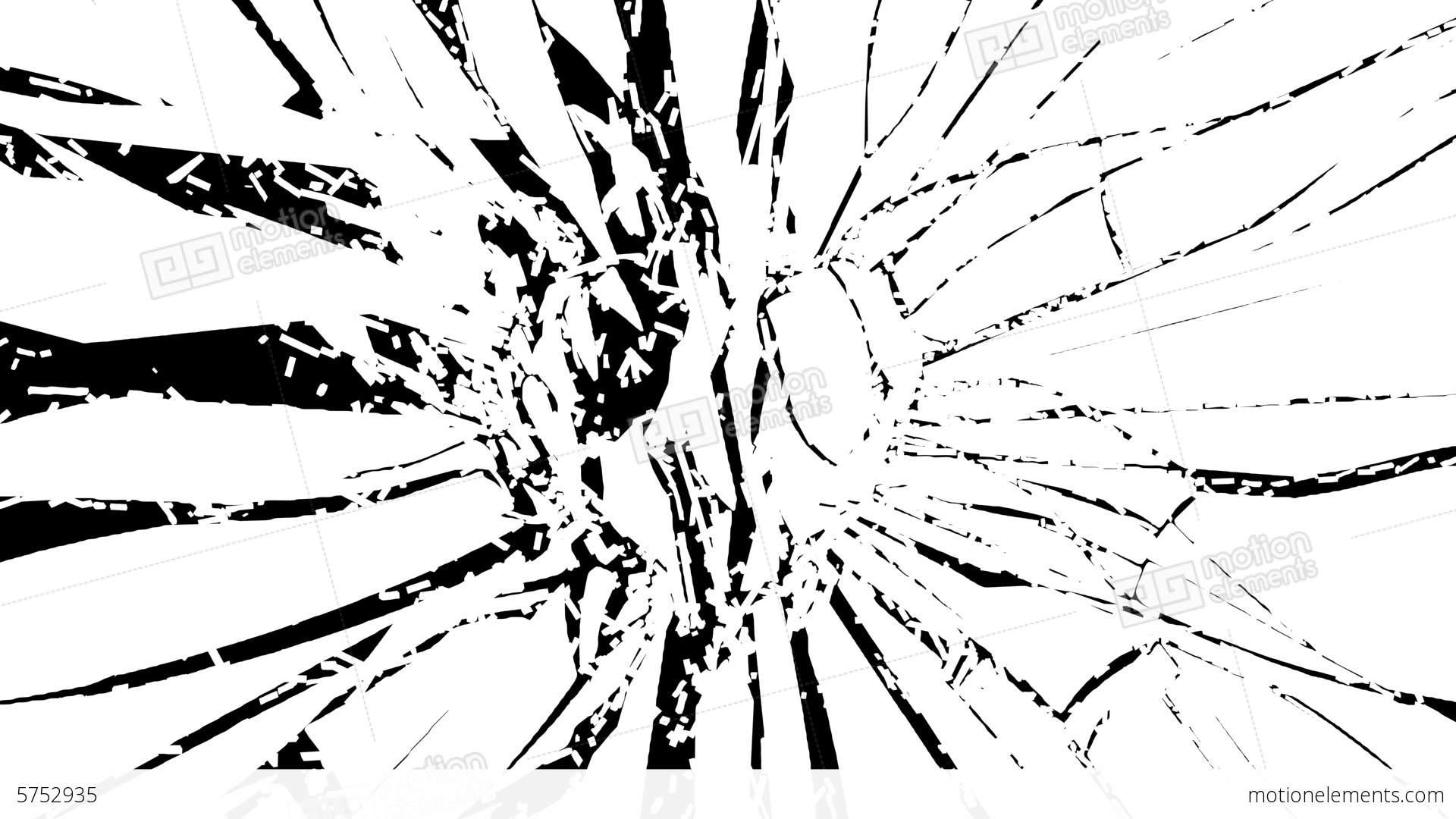 Shattered Glass Red Broken Heart Shape Alpha Is Stock