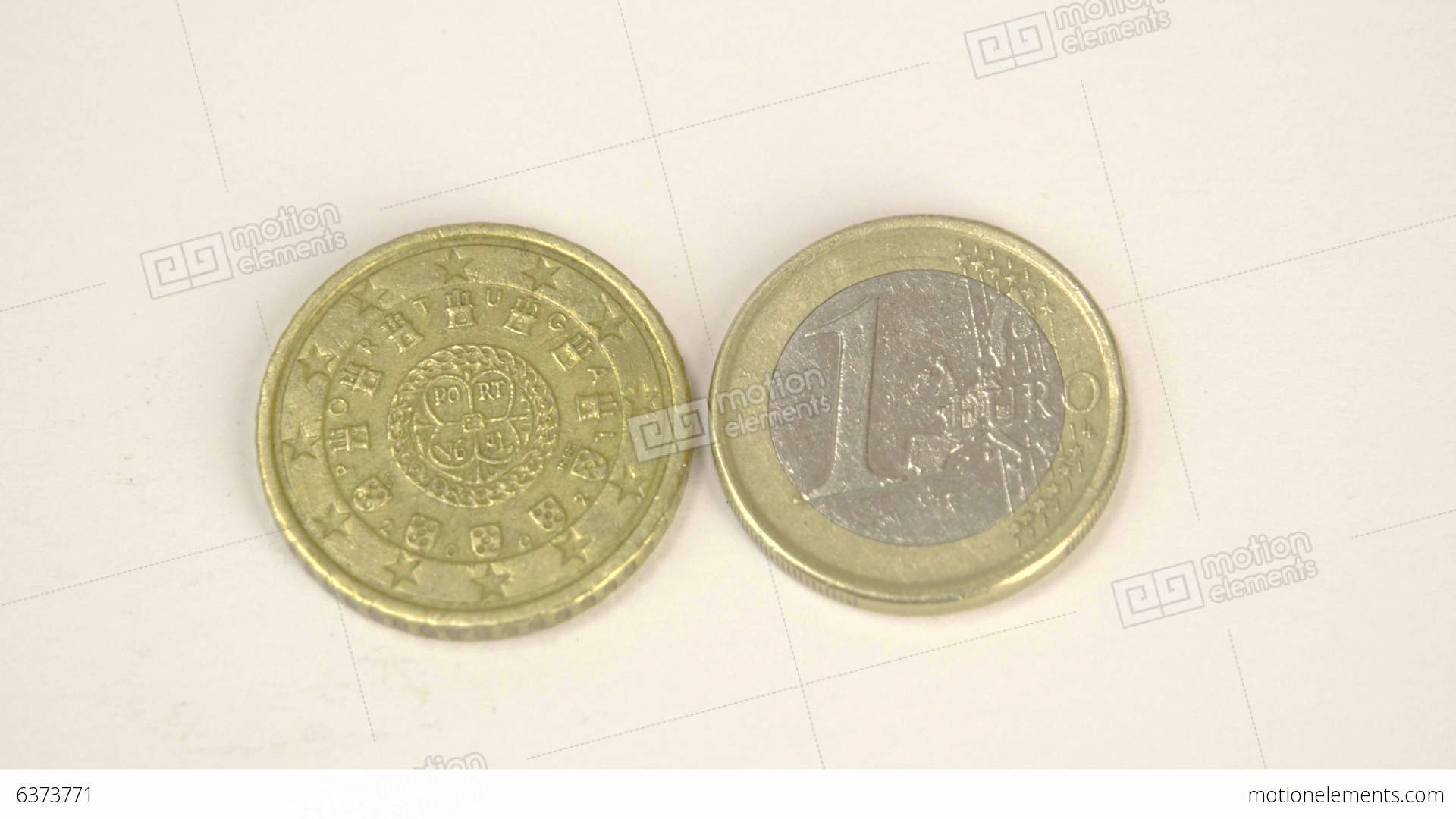 Two Portugal Euro Coins With The Front And Back De
